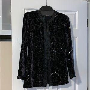 Chico's velvet dressy jacket